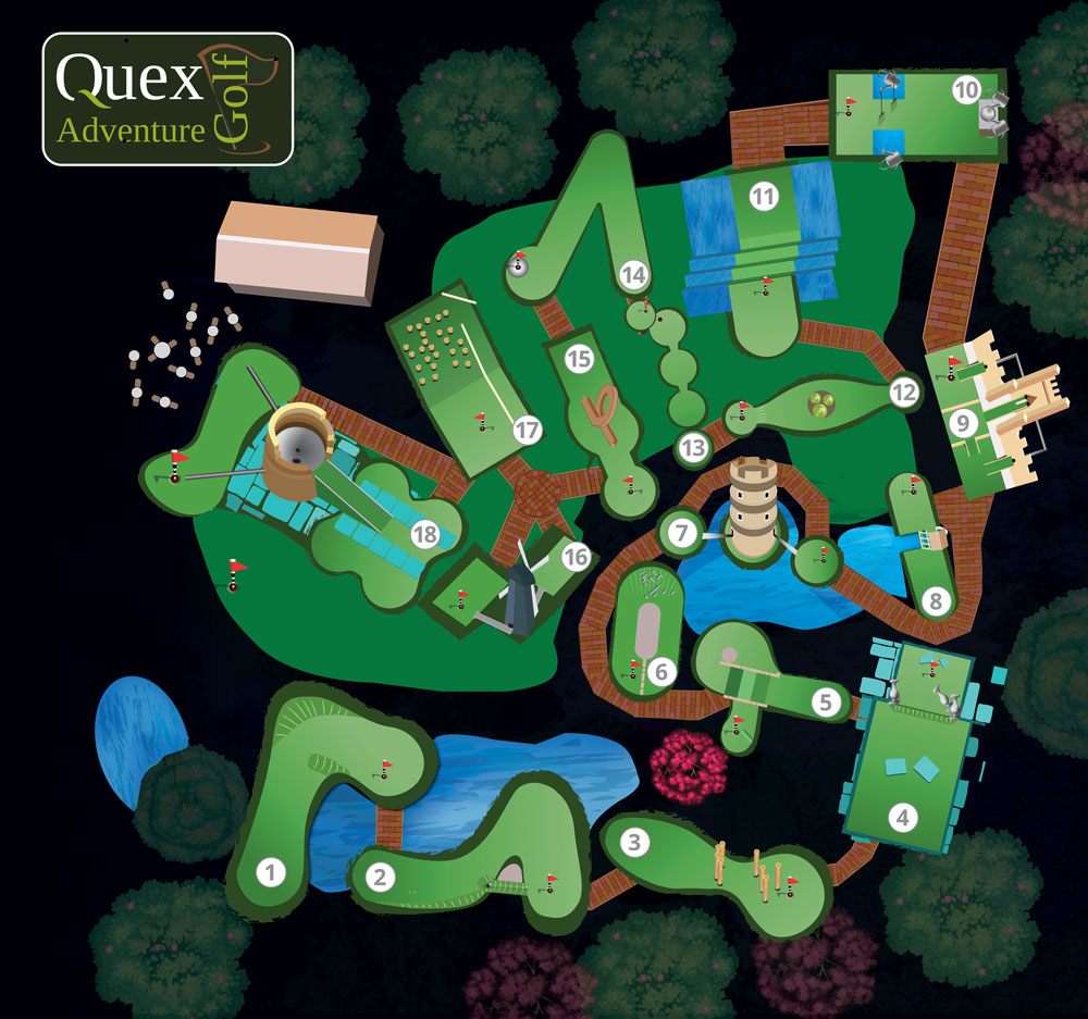 Image of Quex Golf Map